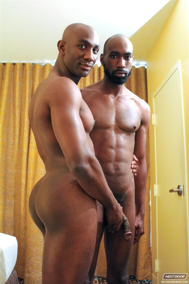 Next-Door-Ebony-Astengo-and-PD-Fox-Big-Black-Cocks-Fucking-Amateur-Gay-Porn-07 Two Hung Black Guys Having Anonymous Gay Sex In A Hotel Room