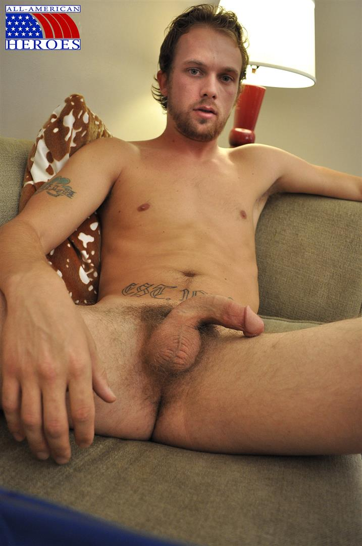 All-American-Heroes-US-Army-Specialist-Clark-Jerking-His-Big-Hairy-Cock-Amateur-Gay-Porn-05 US Army Specialist Masturbating His Hairy Curved Cock