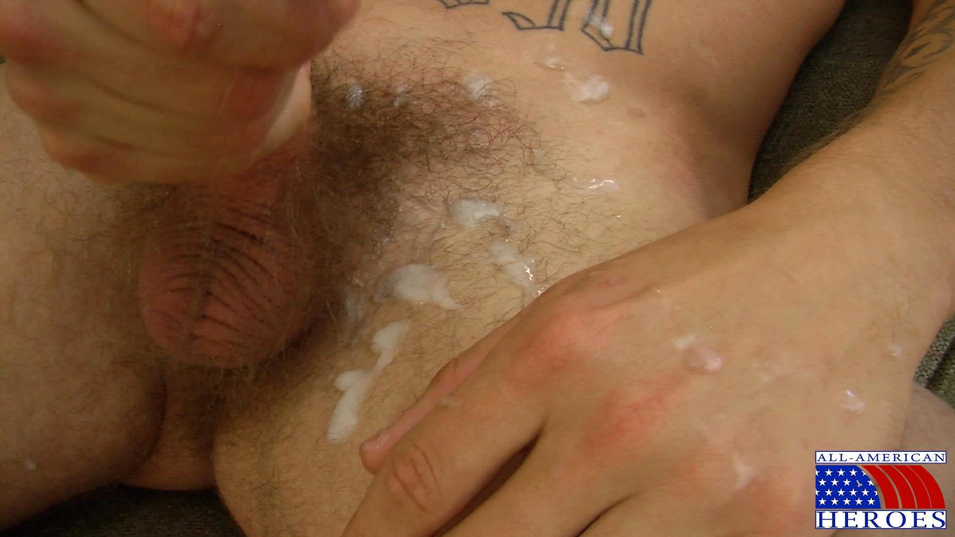 All-American-Heroes-US-Army-Specialist-Clark-Jerking-His-Big-Hairy-Cock-Amateur-Gay-Porn-15 US Army Specialist Masturbating His Hairy Curved Cock