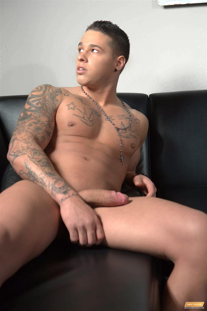 Next-Door-Male-Johnny-Diesel-Muscle-Hunk-Jerking-A-Big-Uncut-Cock-Amateur-Gay-Porn-07 Muscle Hunk Johnny Diesel Stroking His Thick Uncut Cock