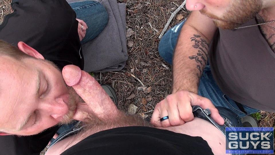 Suck-Off-Guys-and-Tyler-Beck-and-Aaron-French-Anonymous-Cock-Sucking-and-Cum-Eating-Amateur-Gay-Porn-08 Amateur Guys Sucking Cock and Eating Cum In The Forest