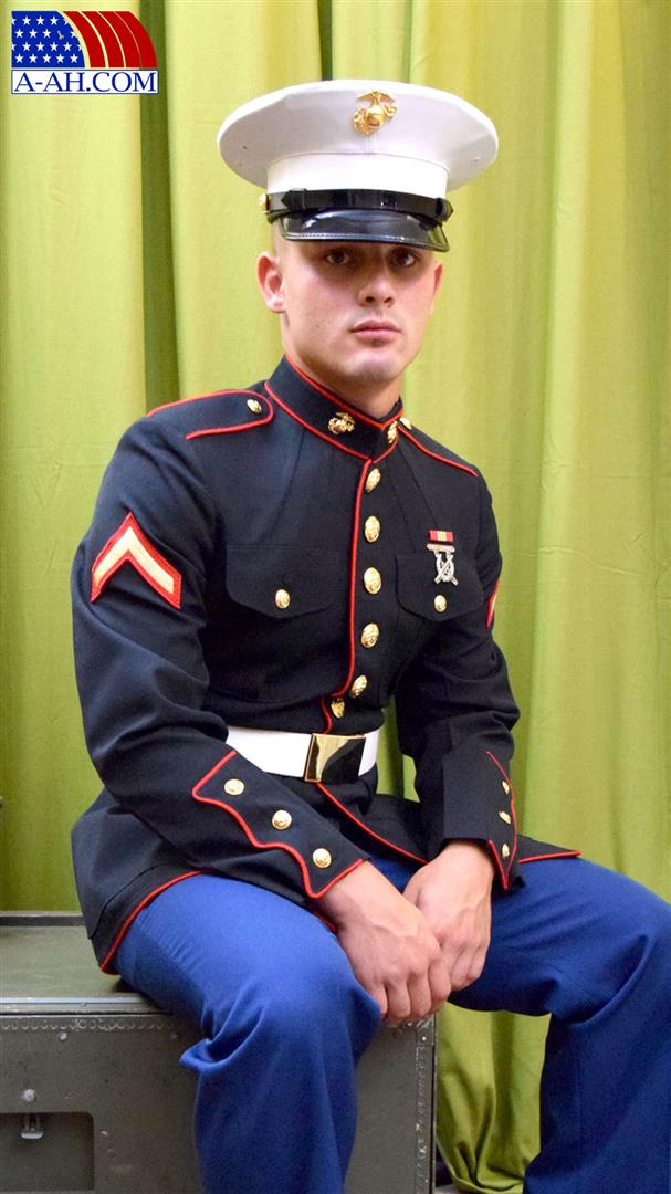All-American-Heroes-Lance-Corporal-Roque-Naked-Marine-Jerking-His-Thick-Uncut-Cock-Amateur-Gay-Porn-01 United States Marine Stroking His Thick Uncut Cock