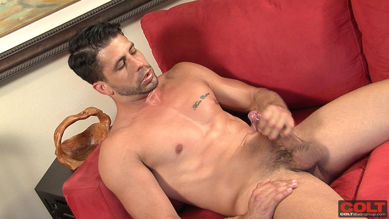 image Male solo big cock hard masturbating