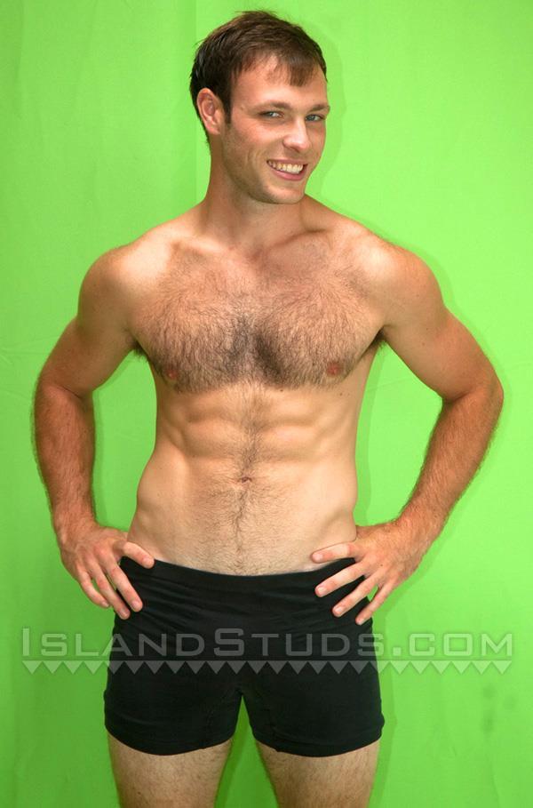 """Island-Studs-Loren-Hairy-Muscle-Jock-Jerking-His-Big-Cock-Amateur-Gay-Porn-01 Hairy Muscle Jock Jerking His 9"""" Big Cock"""