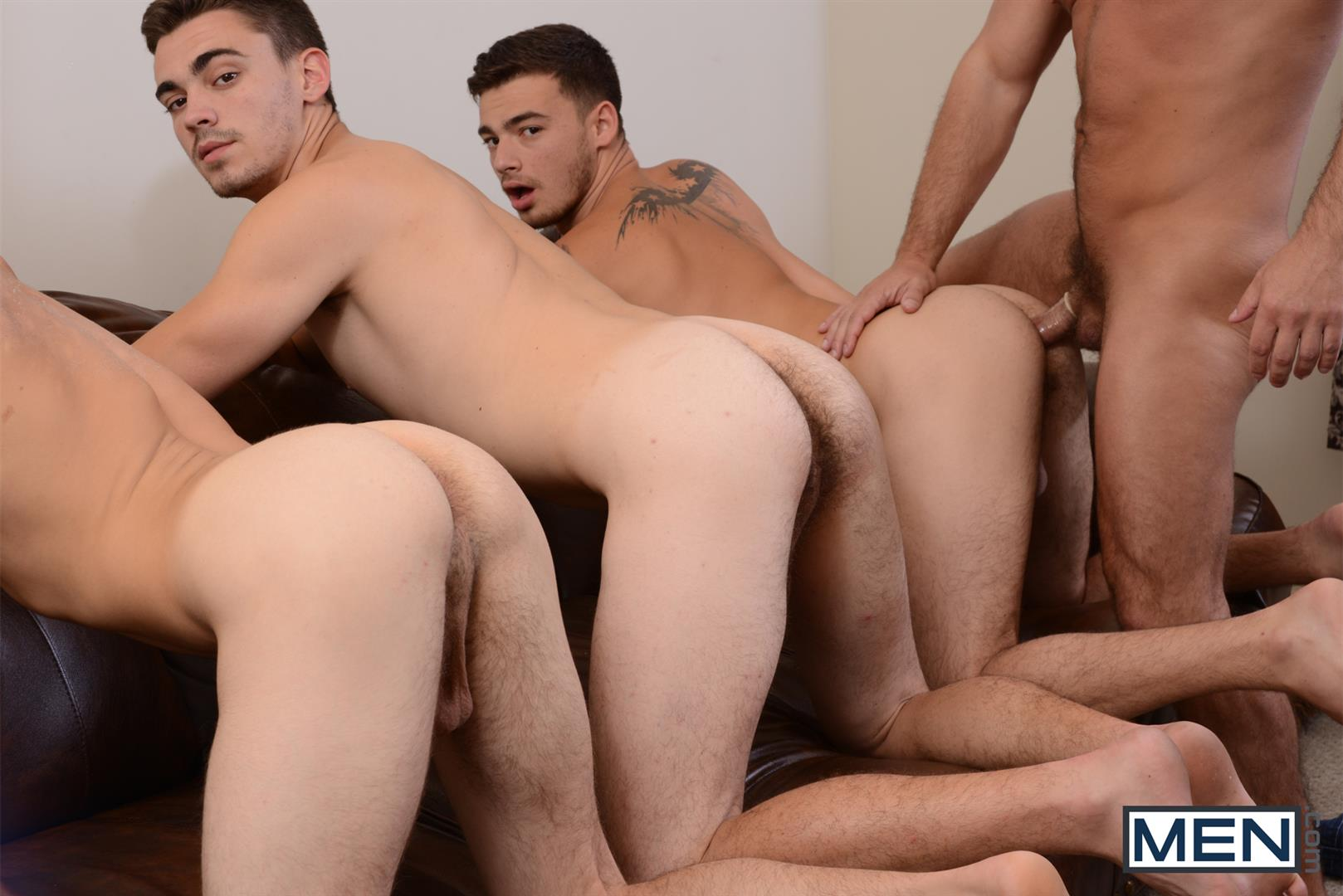 Men-Jizz-Orgy-Asher-Hawk-and-Dirk-Caber-and-Johnny-Rapid-and-Trevor-Spade-Triple-Penetrated-In-the-Ass-Amateur-Gay-Porn-12 Stepfather Dirk Caber Gets TRIPLE Penetrated By His Stepsons