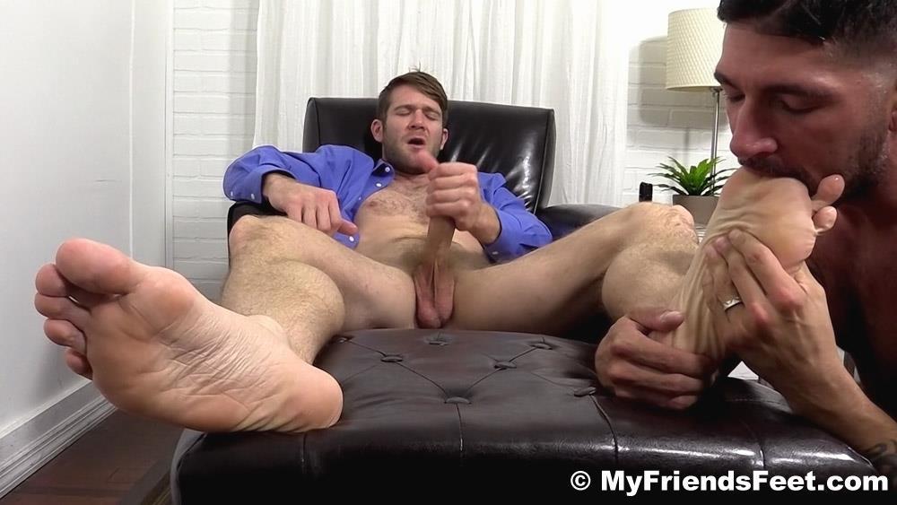 Feet Worship While Jerk Off