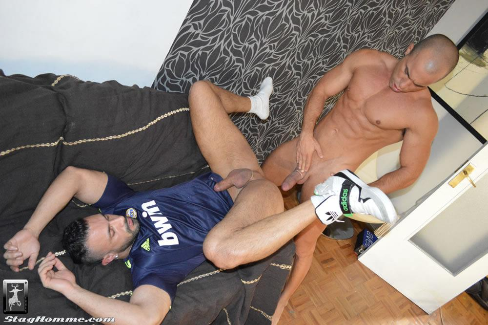Stag-Homme-Antonio-Aguilera-and-Flex-Big-Uncut-Cock-Muscle-Hunks-Fucking-Amateur-Gay-Porn-14 Drunk Muscle Hunk With A Big Uncut Cock Gets Fucked