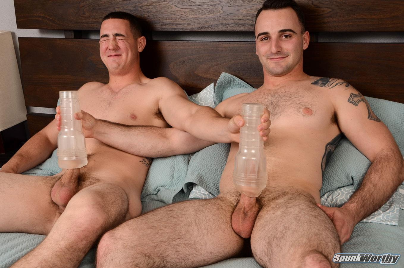 SpunkWorthy-Damien-and-Tom-Army-Buddies-Jerking-Off-Together-Army-Cock-Amateur-Gay-Porn-15 Straight Army Boys Share Some Jerkoff Time Together