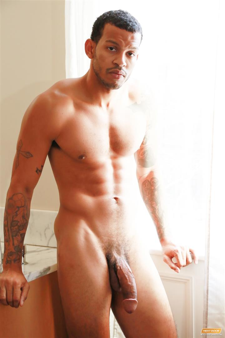 Next-Door-Ebony-Mike-Mann-Naked-Black-Man-Jerking-His-Big-Black-Cock-Amateur-Gay-Porn-15 Sexy Amateur Black Hipster Jerking His Big Black Cock