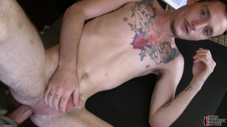 Boys-Halfway-Half-Wayne-Straight-Young-Prison-Thug-Gets-Barebacked-Amateur-Gay-Porn-12 Straight Halfway House Boy Takes A Cock Bareback And Gets Cum In The Face