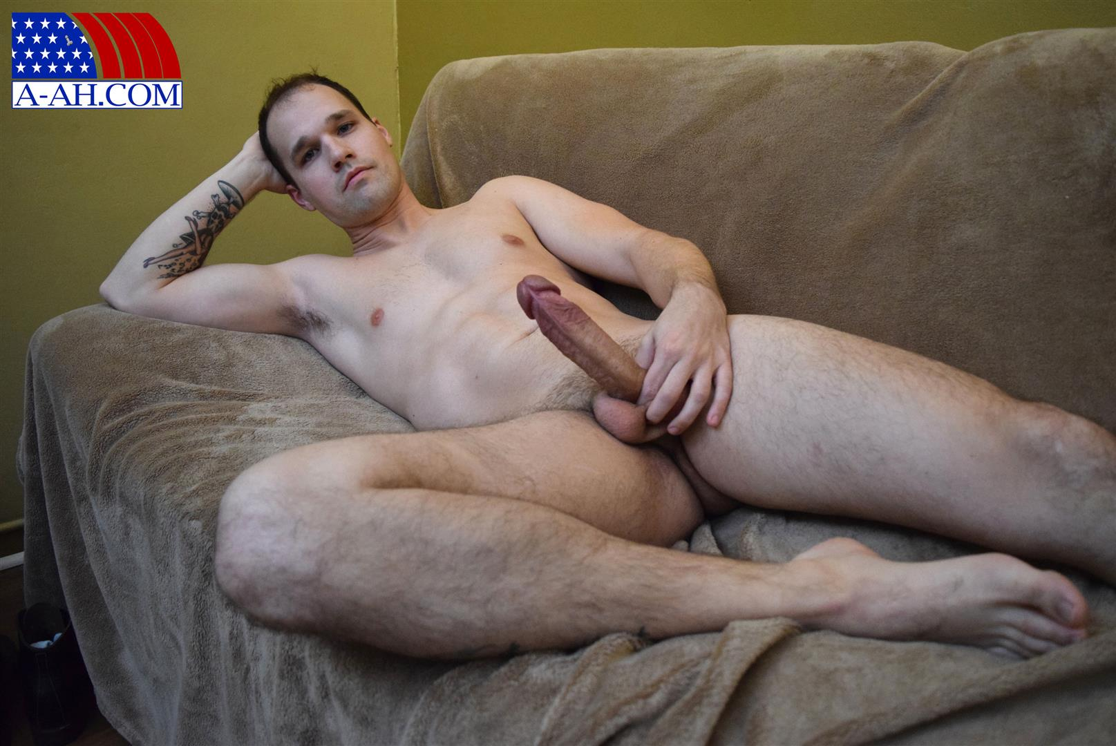 All-American-Heroes-Navy-Petty-Officer-Chris-Big-Uncut-Cock-Amateur-Gay-Porn-10 US Navy Petty Officer Stroking His Big Uncut Cock