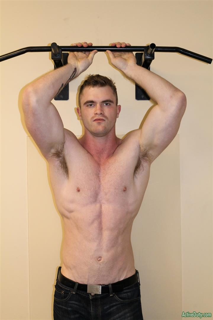 Active-Duty-Scott-Ambrose-Muscle-Naked-Marine-Jerking-Off-Amateur-Gay-Porn-08 Hairy Muscular American Marine Jerks His Thick Cock