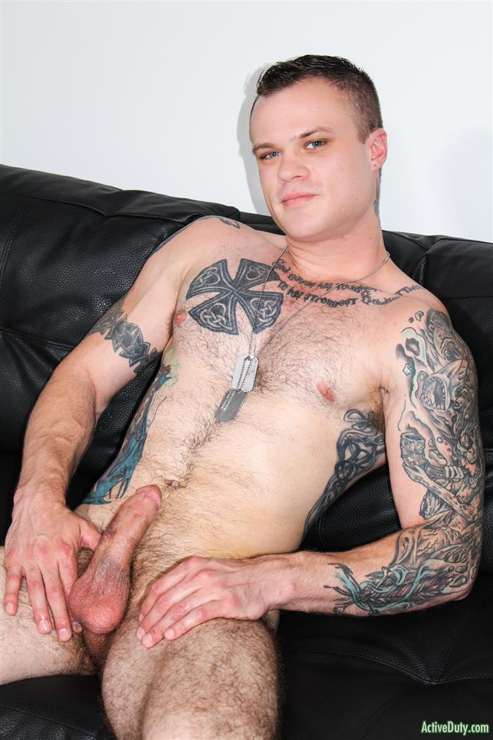 Active-Duty-Cody-Smith-Army-Hairy-Muscle-Guy-Jerking-Off-Big-Dick-10 Hairy Tatted Muscle Army Soldier Jerking His Cock