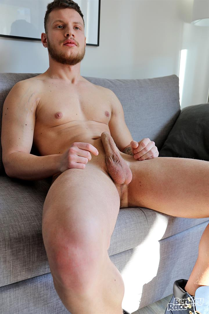 Bentley-Race-Christiano-Szucs-Naked-Hungarian-With-Big-Uncut-Cock-13 Hungarian Muscle Stud Jerks Off His Big Uncut Cock