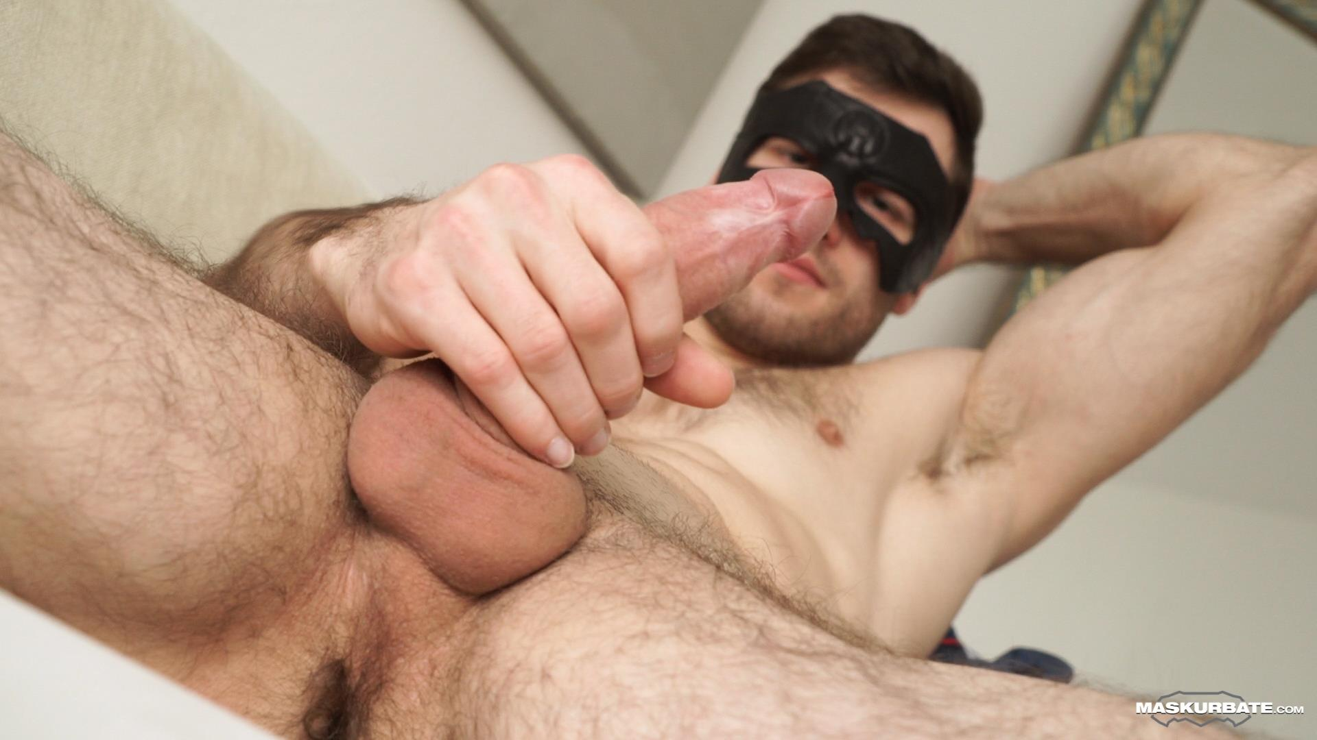 Maskurbate-Sam-Cuthan-Straight-Naked-Hairy-Muscle-Guy-Jerk-off-08 Straight Masked Hairy Muscle Hunk Strokes His Big Uncut Cock