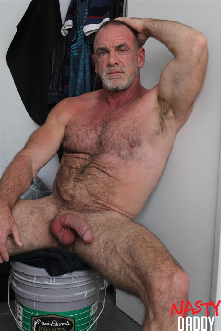 Nasty-Daddy-Trace-OMalley-Hairy-muscle-Daddy-With-Thick-Cock-Jerk-Off-Video-25 Hairy Muscle Daddy Shows Off His Thick Cock And Jerks Off