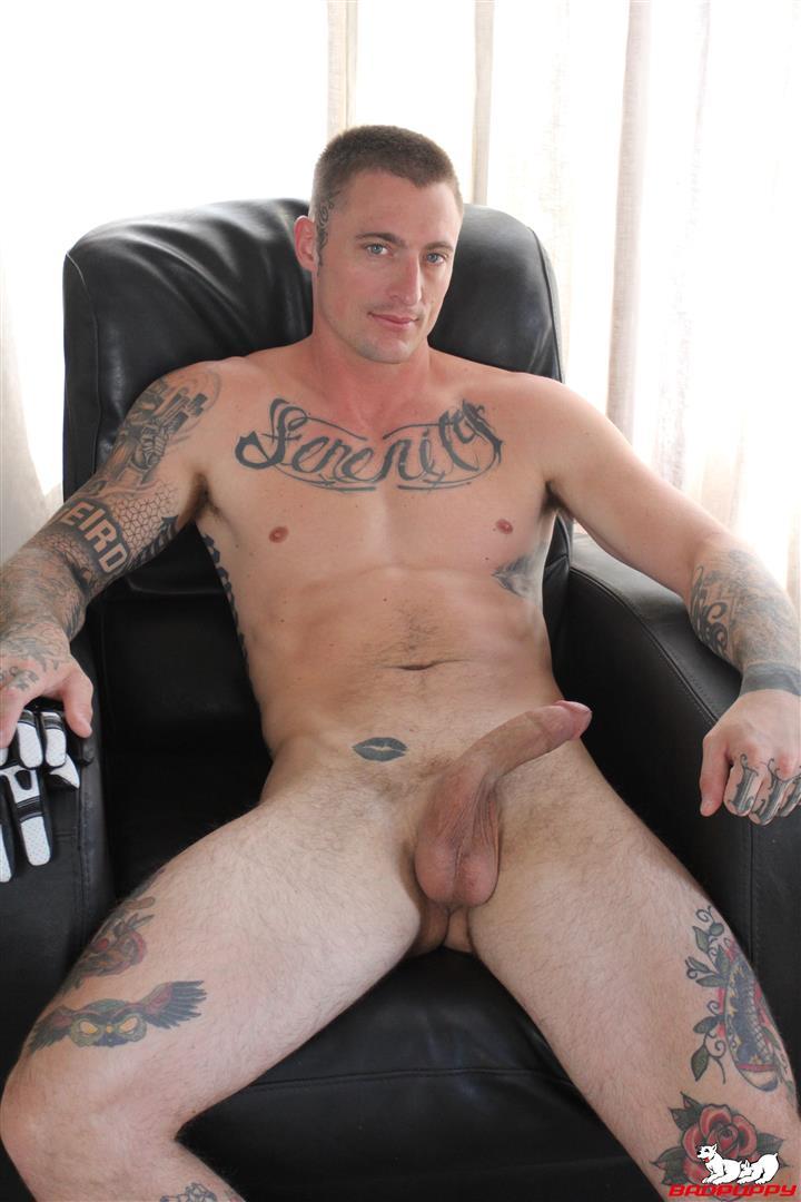 Badpuppy-Dane-Stewart-Naked-Tattoo-Stud-Jerking-Off-His-Big-Cock-Video-11 Big Dick Tattoo Artist Dane Stewart Jerks Off His Big Cut Cock
