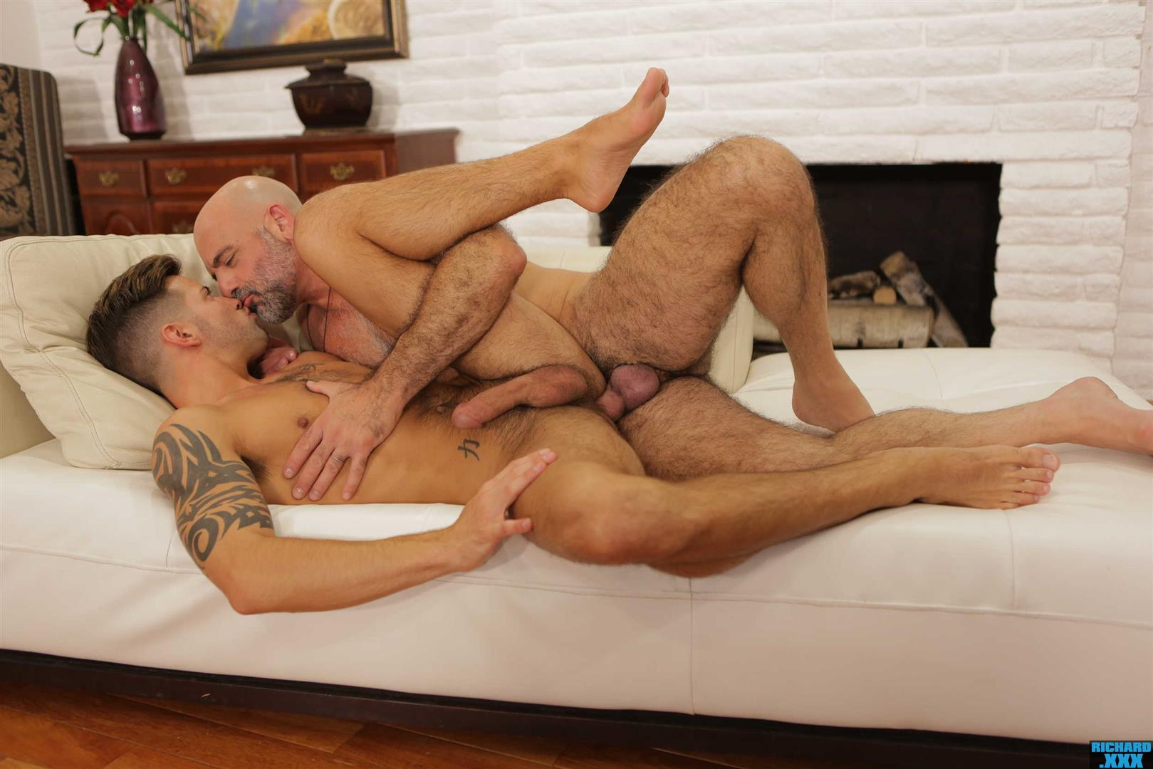 Richard-XXX-Adam-Russo-and-Casey-Everett-Muscle-Daddy-Thick-Dick-Bareback-Video-24 Hairy Muscle Daddy Adam Russo Bareback Fucking Casey Everett